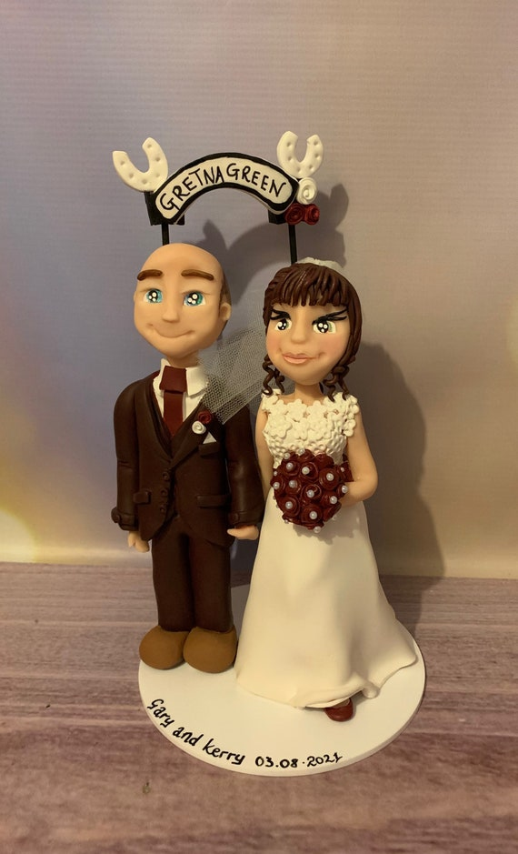 Personalised Gretna green - Wedding Cake Topper - Bride and groom/same sex couple