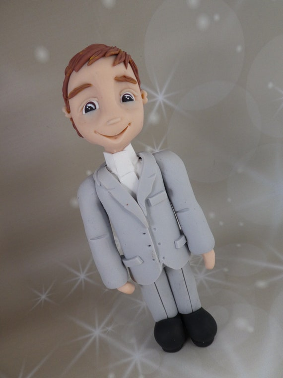 Budget Friendly/ Low cost/ Cheap Wedding Cake Topper - Groom / Male / Man - Finished and available for Immediate Dispatch