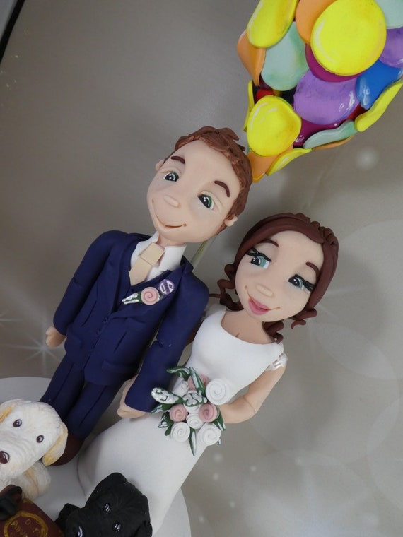 Wedding cake Topper UP themed - Fully Personalised a lovely keepsake - Bride and Groom/Same Sex/Wedding couple