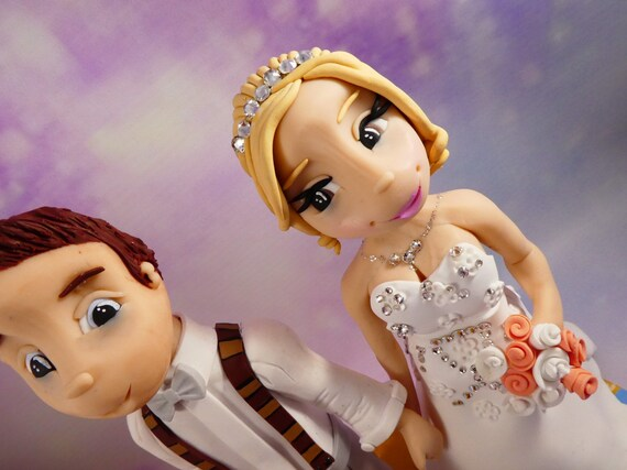 Fully personalised Wedding Cake Topper / wedding gift. Highly detailed and fully sculpted by hand. Beach theme/destination wedding