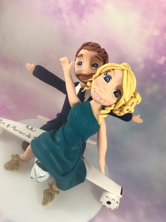 Wedding Cake Topper - Travel Theme