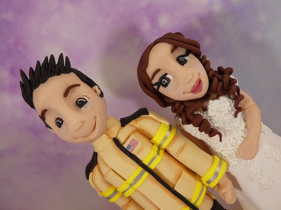 Wedding Cake Topper - Firefighter