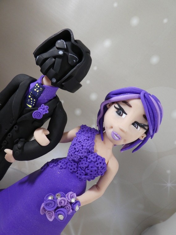 Star Wars Theme Cake Topper - Personalised Bride and Groom/Same sex Wedding