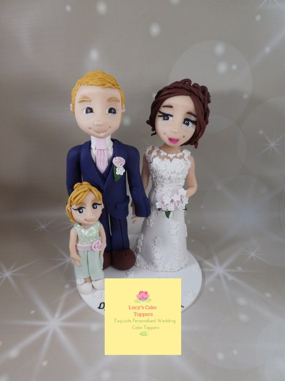 Personalised Wedding Cake Topper - family/ Bride and Groom / Same sex