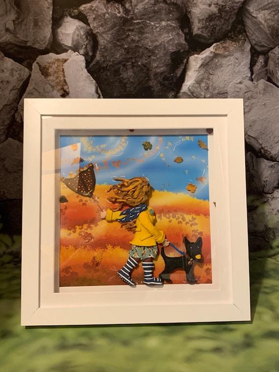 Framed Mixed-media Wall art - Autumn/fall or season theme - Fully personalised