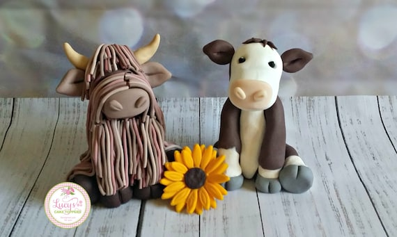 Wedding cake Topper - cow/Highland Cow