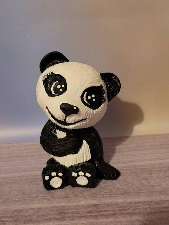 Cute panda figurine - polymer clay statue of Panda