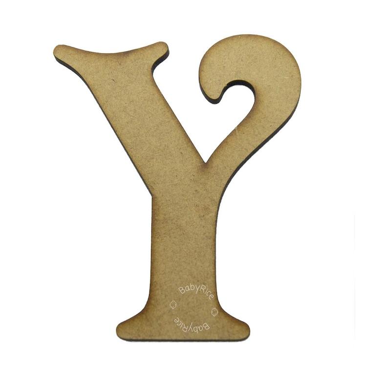 Craft Blanks 10cm  4\u201d MDF Wooden Letters - Craft Letters