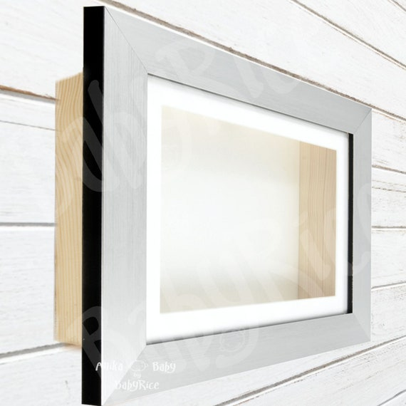 Brushed Silver Effect Photo Picture Frame with Ivory Mount Choose size