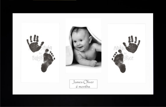 New Baby Boy And Girl Gift Babys Handprint Footprint Etsy
