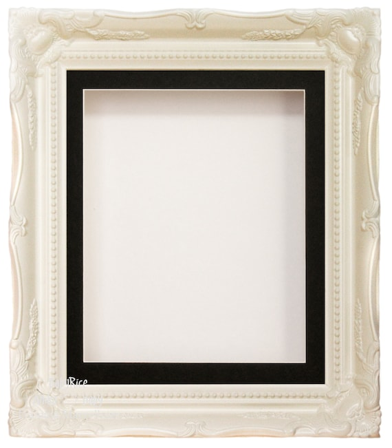 Deep Shadow box for Baby Casts 3D Objects Keepsakes /& Display White Box Frames