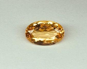 Natural Imperial Topaz 1.68 carats - Brazilian Imperial Topaz - November Birthstone - Genuine Topaz Facted loose Gemstone