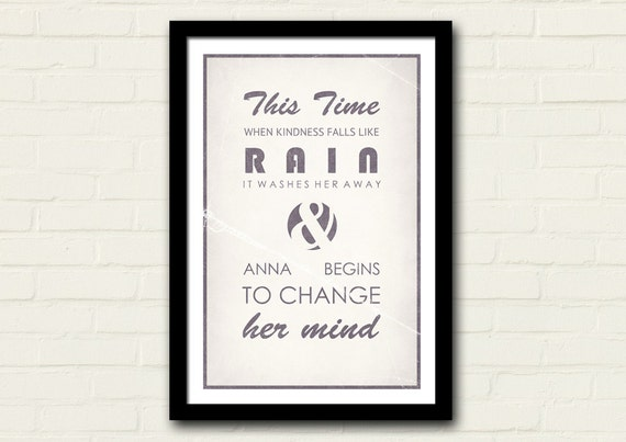 Counting Crows Lyrics Poster 11 X 17 Art Print Anna Begins