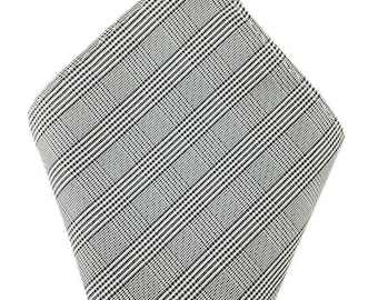 Mens Pocket Square. Grey Plaids Handkerchief.Formal Suit .Pocket squares. Hanky. Tuxedo Tie Necktie Pocket Square.