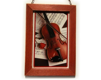 Violin Picture, Violin Magnet, Musician Gift, Housewarming Gift, Thank You Gift, Small Gift, Gift For Him, Gift For Her, Fridge Magnet
