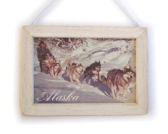 Alaska Picture, Alaska Magnet, Alaska Gift, Dogsled Team, Thank You Gift, Housewarming Gift, Gift For Him, Gift For Her, Fridge Magnet