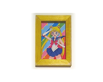 Sailor Moon Picture,Sailor Moon Magnet, Sailor Moon Gift, Thank You Gift, Housewarming Gift, Gift For Him, Gift For Her, Fridge Magnet