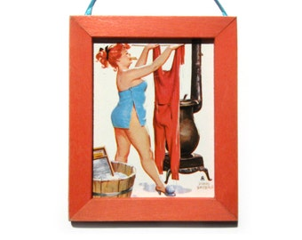 Zaftig Pinup Picture, Pinup Magnet, Home Decor, Office Gift, Thank You Gift, Housewarming Gift, Gift For Him, Gift For Her, Fridge Magnet