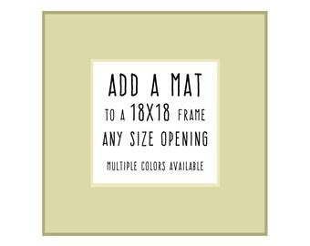 18x18 Frame Mat Etsy