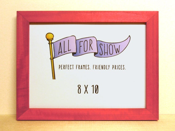8x10 Frame, Hot Pink Frame, 8x10 Picture Frame, Photo Frame, Picture ...