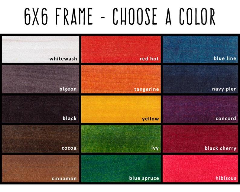 6x6 Frame Photo Frame 6x6 Picture Frame Frame 6x6 Photo Frame Custom Picture Frame Choose-A-Color Custom Color Frame Custom Frame