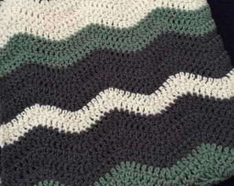 Crochet Baby Ripple Afghan