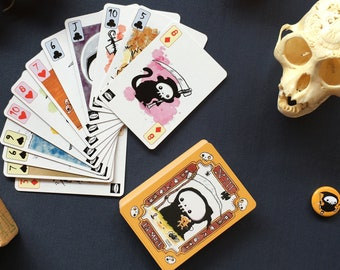 Lil' Reaper Playing Card and Oracle Art Deck - Fun and Unique - Great Gift
