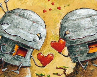 HEART of my HEART - Fun Love Robot Print