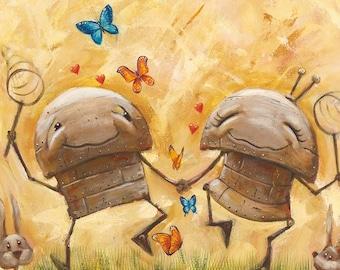 That Butterfly Feeling - Fun Love Robot Print