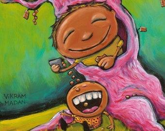 Fun Times At The Chocolate Tree - Fun Weird Surreal Print