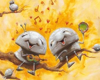 DUET (Together We Sing) - Fun Love Robot Print