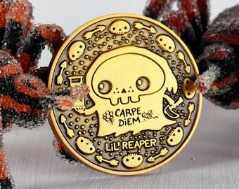 Lil' Reaper 'Carpe Diem' (Seize the Day) Hourglass-Reaper Raven Art Coin