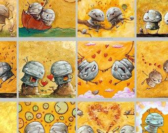 The LOVE-BOT Collection - Fun Love Robot Print
