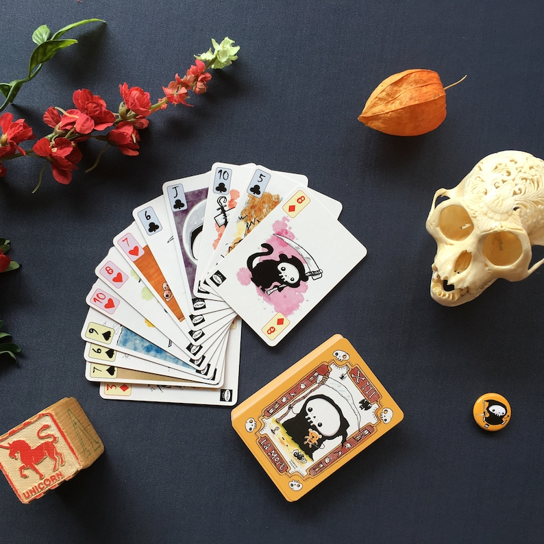 Lil' Reaper Playing Card Art Deck  Fun and Unique  image 0