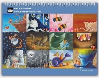 2022 Art Calendar - Whimsical Adventure & Friendship - High Quality