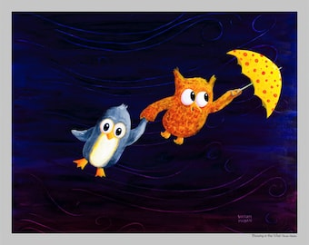 Blowing in the Wind - Fun and Friendship Print