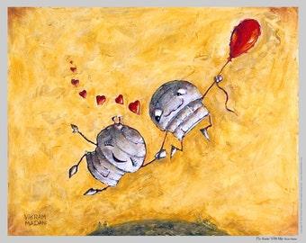 Fly Away With Me - Fun Love Robot Print