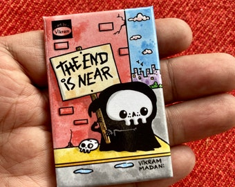 Lil' Reaper Magnet - The END is NEAR