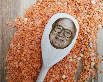 Danny Devito Face on wooden spoon, prank gift, tic toc, housewarming, meme gift, chef, cook,   015-112