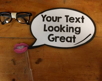 Custom Photo Booth Speech Bubble Prop 013-520 Party Wedding Engagement Wall Sign
