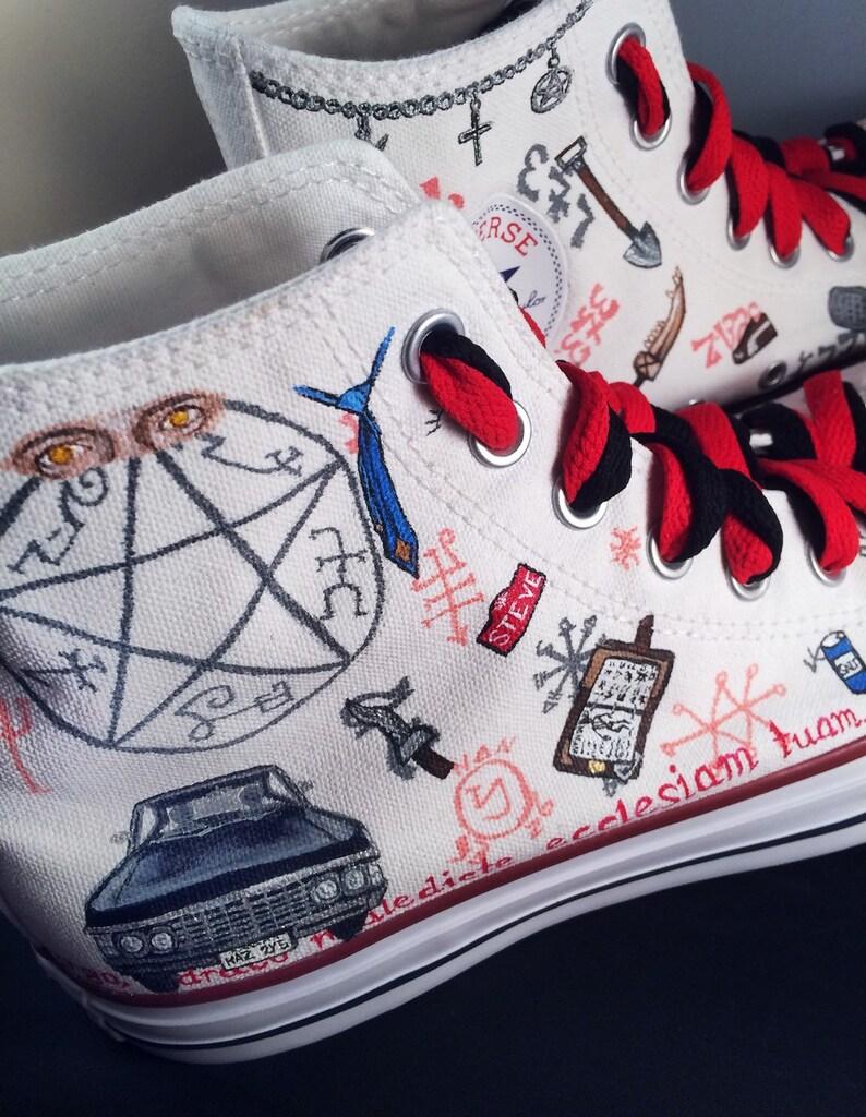 f40aea3730c Supernatural Shoes LIMITED EDITION custom Chuck Taylor Converse ...