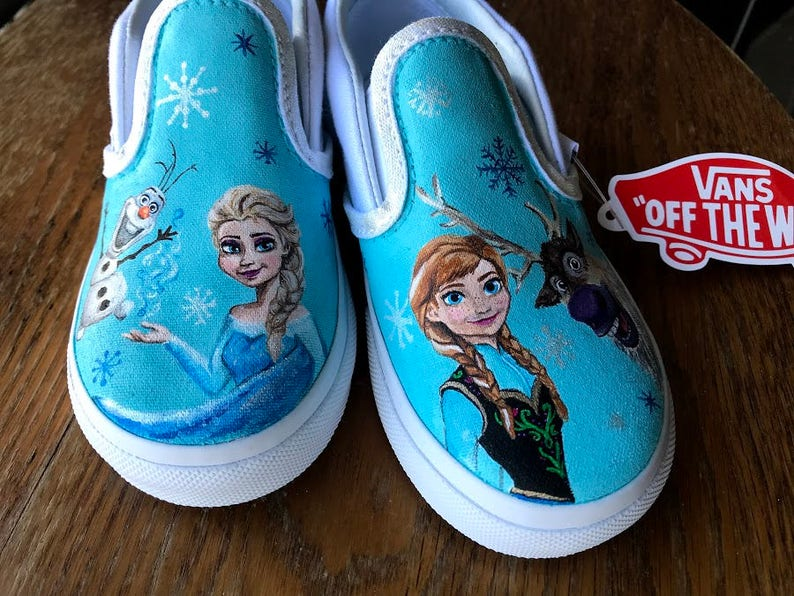 600369bf11644b Handpainted Custom Vans Shoes KIDS Disney s Frozen
