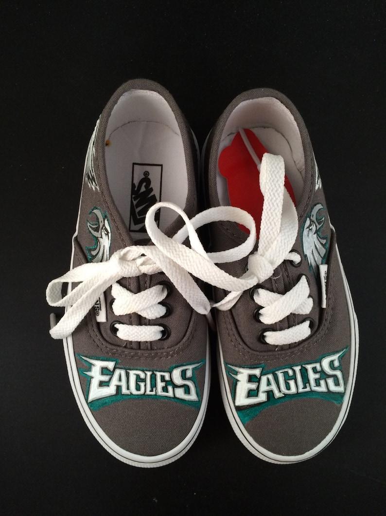 8eb0e4efc8f8 Handpainted Custom Vans Shoes Sneakers KIDS Philadelphia