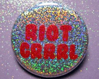 Riot Grrrl pin, feminist pin, feminist gift