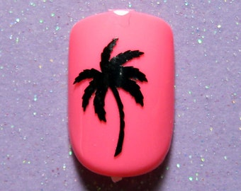Palm tree vinyl nail decals, vacation gifts, nail stickers, planner stickers