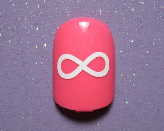 Infinity symbol vinyl nail decals, Valentine's day nail stickers, planner stickers