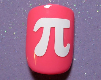 Pi symbol vinyl nail decals, pi day nail stickers, planner stickers
