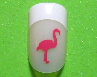Flamingo vinyl nail decals, flamingo gift, nail stickers, planner stickers