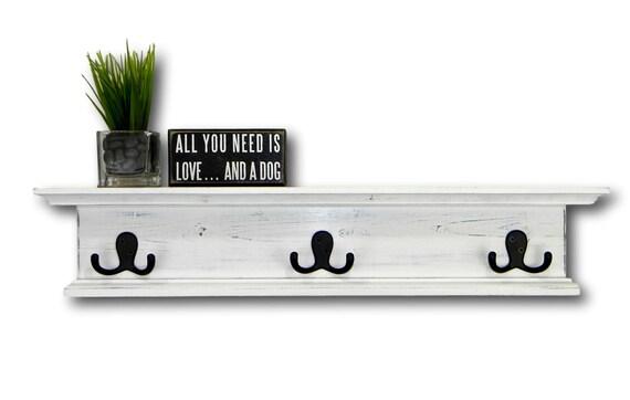 mantel rack wandregal rustikal 24 holz rustikal w hlen etsy. Black Bedroom Furniture Sets. Home Design Ideas