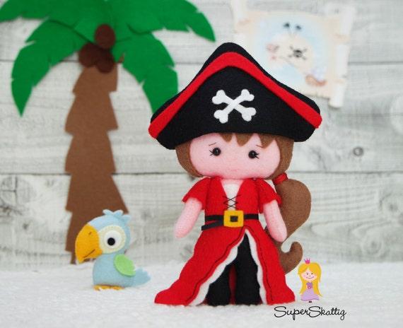 5 Inch Pirate Parrot Plush Figurine